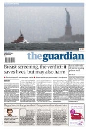 The Guardian Newspaper Front Page (UK) for 30 October 2012