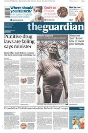 The Guardian (UK) Newspaper Front Page for 30 October 2014