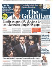 The Guardian (UK) Newspaper Front Page for 30 November 2018