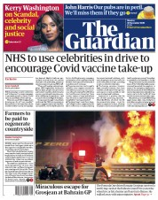 The Guardian front page for 30 November 2020