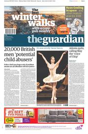 The Guardian (UK) Newspaper Front Page for 30 December 2017