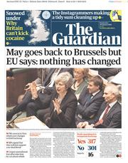 The Guardian (UK) Newspaper Front Page for 30 January 2019