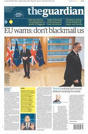 The Guardian (UK) Newspaper Front Page for 30 March 2017