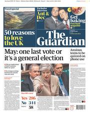 The Guardian (UK) Newspaper Front Page for 30 March 2019