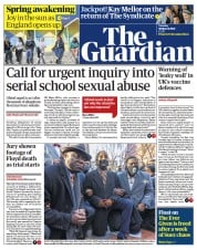 The Guardian front page for 30 March 2021