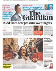 The Guardian (UK) Newspaper Front Page for 30 April 2018
