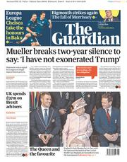 The Guardian (UK) Newspaper Front Page for 30 May 2019
