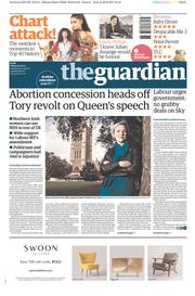 The Guardian (UK) Newspaper Front Page for 30 June 2017
