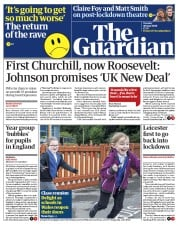 The Guardian (UK) Newspaper Front Page for 30 June 2020