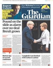 The Guardian (UK) Newspaper Front Page for 30 July 2019
