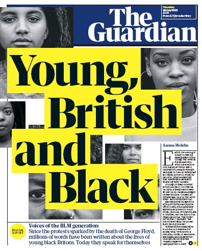 The Guardian Newspaper Front Page (UK) for 30 July 2020