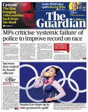 The Guardian () Newspaper Front Page for 30 July 2021