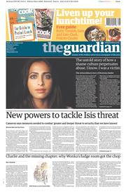 The Guardian (UK) Newspaper Front Page for 30 August 2014