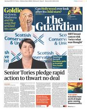 The Guardian (UK) Newspaper Front Page for 30 August 2019