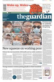 The Guardian (UK) Newspaper Front Page for 30 September 2014