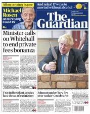 The Guardian front page for 30 September 2020