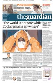 The Guardian (UK) Newspaper Front Page for 31 October 2014