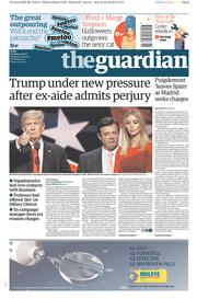 The Guardian (UK) Newspaper Front Page for 31 October 2017