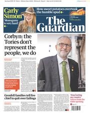 The Guardian (UK) Newspaper Front Page for 31 October 2019