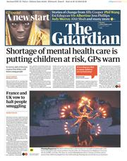 The Guardian (UK) Newspaper Front Page for 31 December 2018