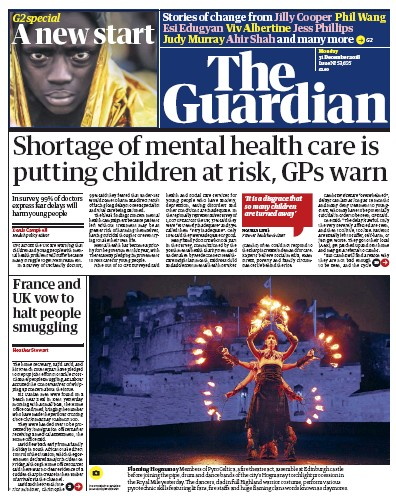 The Guardian Newspaper Front Page (UK) for 31 December 2018
