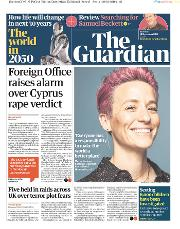 The Guardian () Newspaper Front Page for 31 December 2019