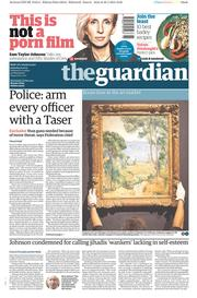 The Guardian (UK) Newspaper Front Page for 31 January 2015
