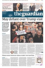 The Guardian (UK) Newspaper Front Page for 31 January 2017