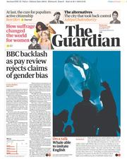 The Guardian (UK) Newspaper Front Page for 31 January 2018