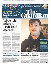 The Guardian (UK) Newspaper Front Page for 31 January 2019