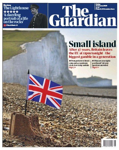 The Guardian Newspaper Front Page (UK) for 31 January 2020