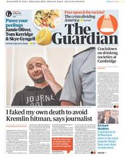 The Guardian (UK) Newspaper Front Page for 31 May 2018