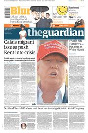 The Guardian (UK) Newspaper Front Page for 31 July 2015