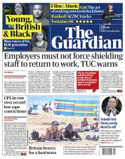 The Guardian front page for 31 July 2020