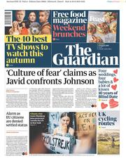 The Guardian () Newspaper Front Page for 31 August 2019