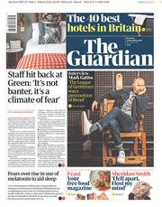 The Guardian (UK) Newspaper Front Page for 3 November 2018