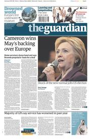 The Guardian () Newspaper Front Page for 3 February 2016