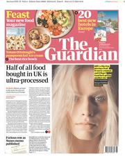 The Guardian (UK) Newspaper Front Page for 3 February 2018