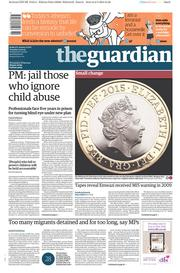 The Guardian (UK) Newspaper Front Page for 3 March 2015