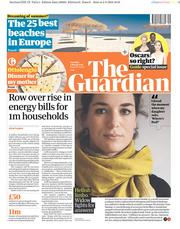 The Guardian (UK) Newspaper Front Page for 3 March 2018