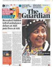 The Guardian (UK) Newspaper Front Page for 3 April 2018