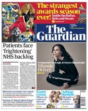 The Guardian (UK) Newspaper Front Page for 3 April 2021
