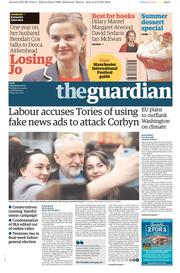 The Guardian (UK) Newspaper Front Page for 3 June 2017