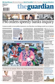 The Guardian Newspaper Front Page (UK) for 3 July 2012