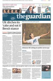 The Guardian (UK) Newspaper Front Page for 3 July 2017
