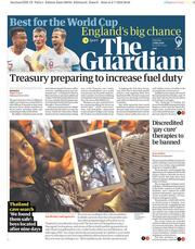 The Guardian (UK) Newspaper Front Page for 3 July 2018