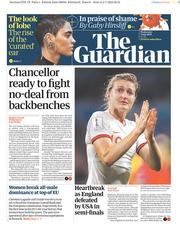 The Guardian (UK) Newspaper Front Page for 3 July 2019