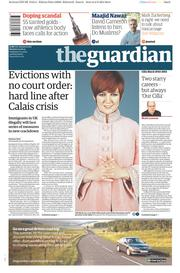 The Guardian (UK) Newspaper Front Page for 3 August 2015