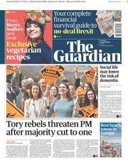 The Guardian (UK) Newspaper Front Page for 3 August 2019