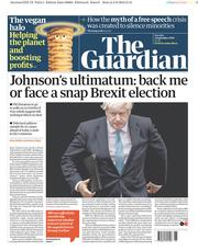 The Guardian (UK) Newspaper Front Page for 3 September 2019